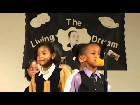 Alex, our grandson,  portraying Martin Luther King III