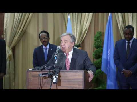 Secretary-General António Guterres visits drought-hit Somalia