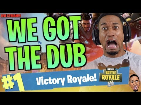 WE GOT THE DUB TWICE!!! Fortnite Battle Royale LIVE STREAMY WEAMY!!! ft. ImDontaiGaming