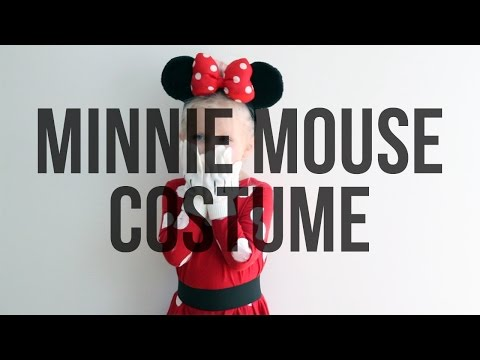 No Sew Minnie Mouse Homemade Halloween Costume For Kids