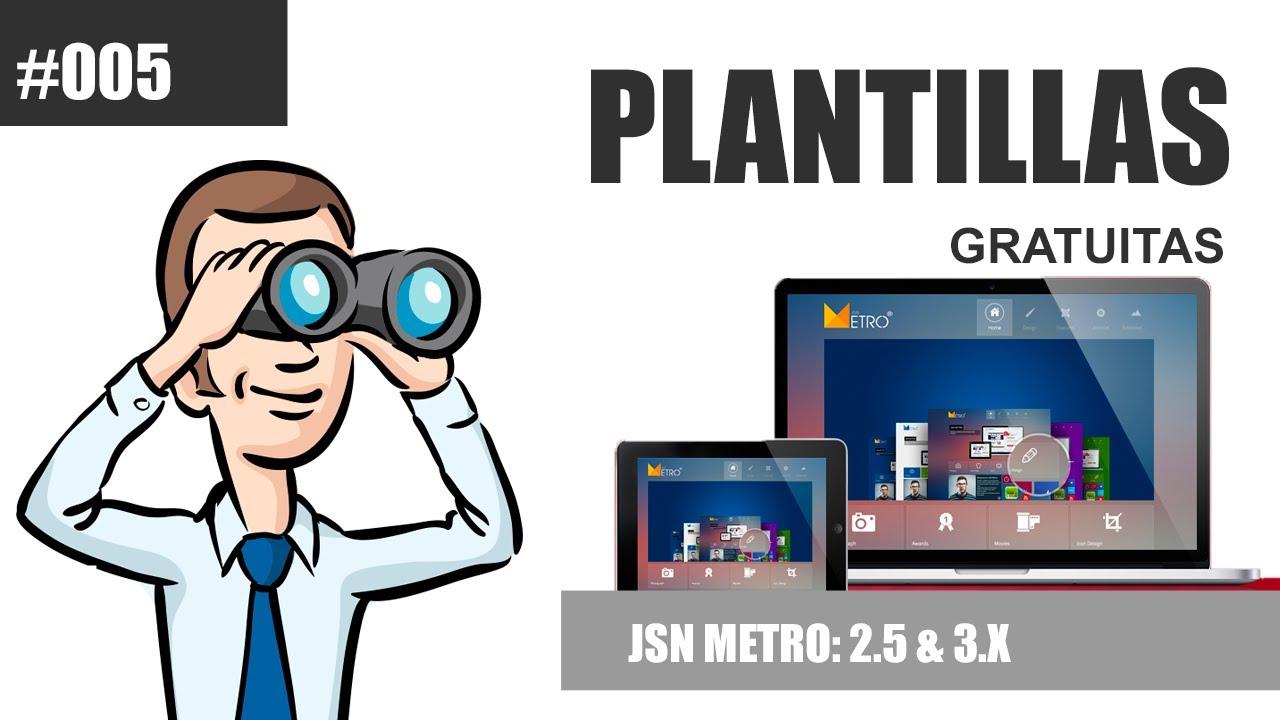 Plantilla Gratuita: JSN Metro (Descarga e Instalación) by @TuJoomla ...