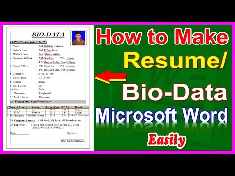 How to make Resume,  Resume Writing System, How to Write a CV, How to make Biodata