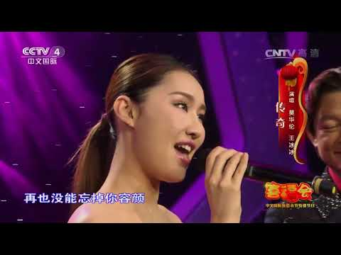 Bing Bing Wang -CCTV new year concert  王冰冰 莫华伦 传奇-20170201