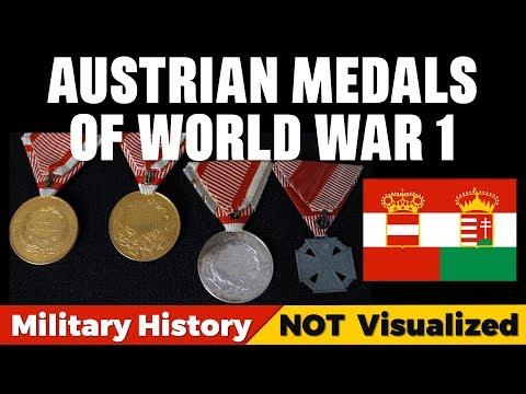 Austria-Hungary WW1 Medals: Medal Of Bravery & Karl-Truppenkreuz