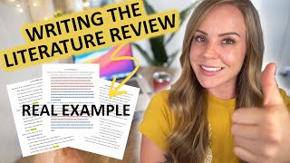 LITERATURE REVIEW tutorial: Writing the literature review real example