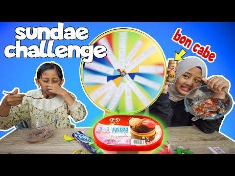 Mystery wheel of sundae challenge