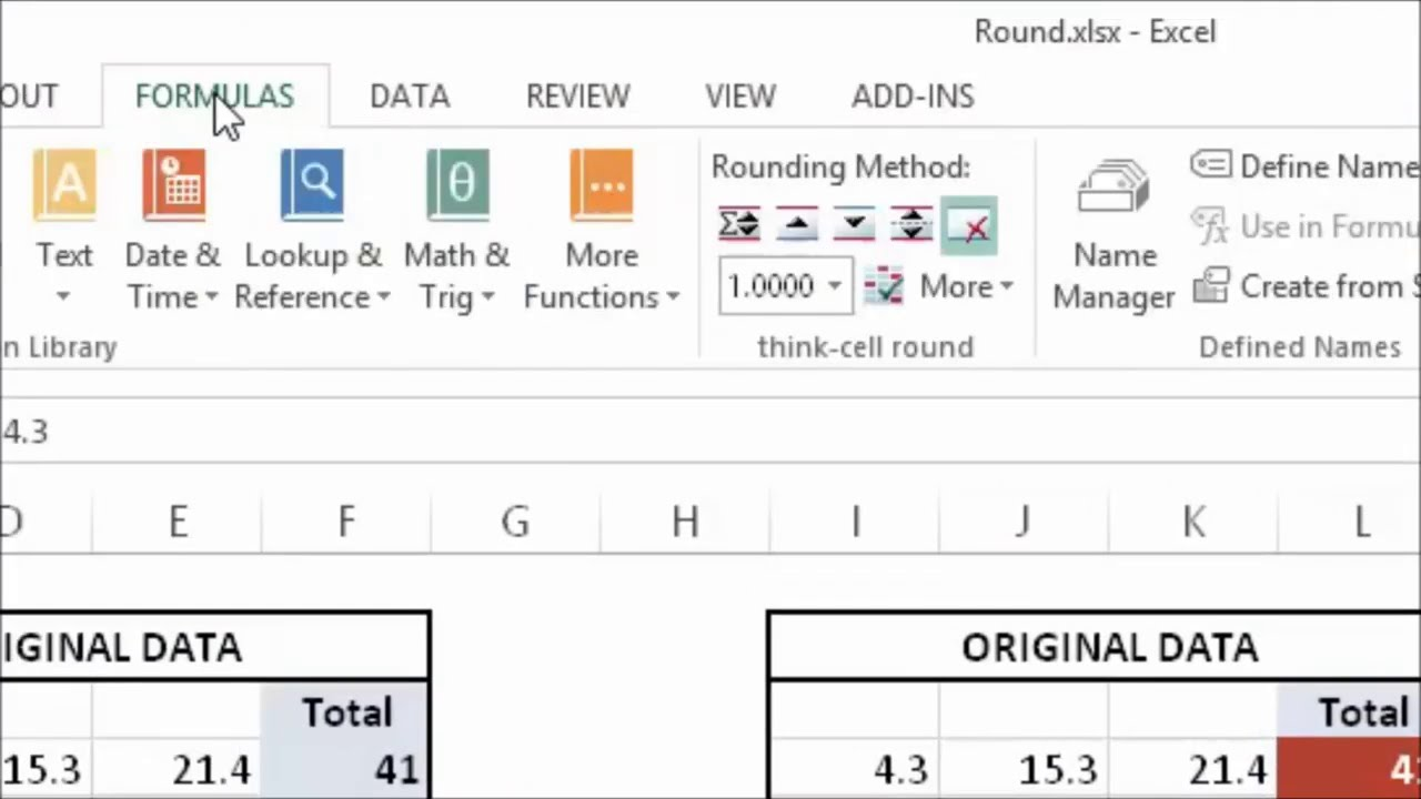 think-cell round: Tight integration into Excel - YouTube