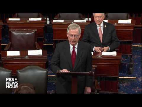 Senate Majority Leader McConnell speaks on Comey firing