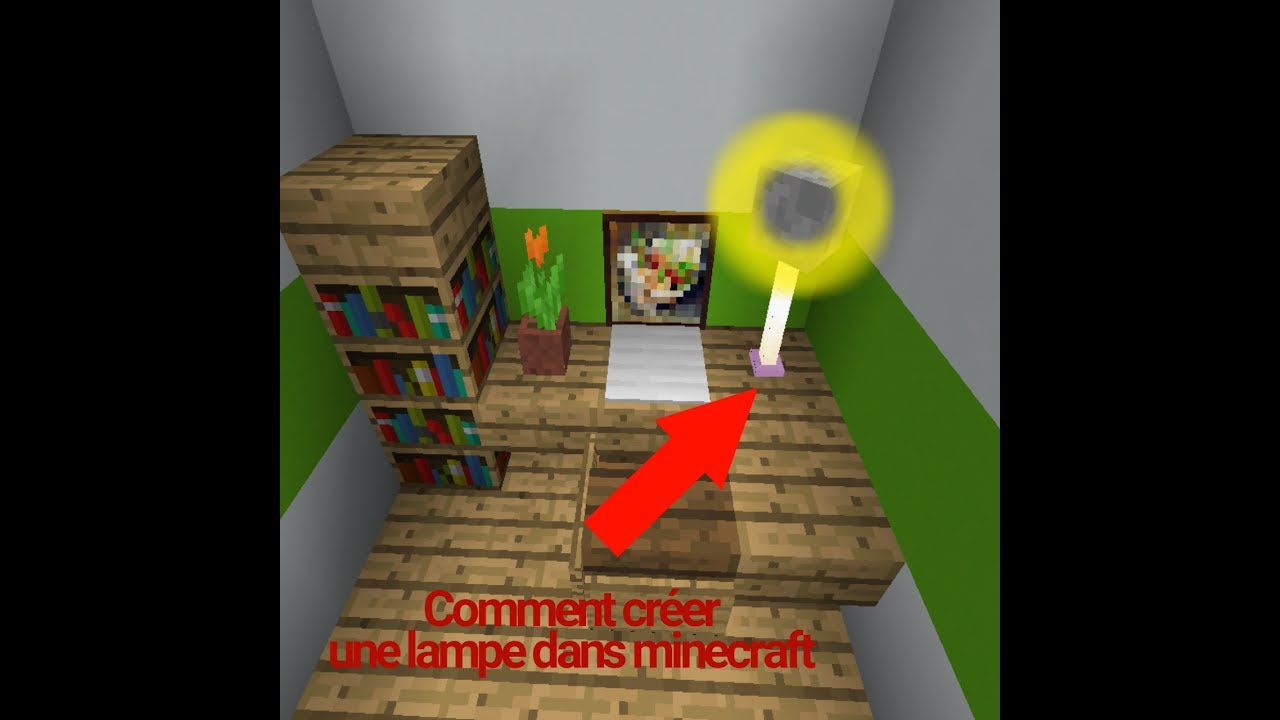 Tuto Comment Faire Une Lampe Dans Minecraft Youtube