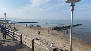 The Resort Town on Baltic Sea in Kaliningrad Region. Car's Town  Zelenogradsk, Russia. Live