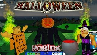 "Roblox - RoCitizens Halloween Event [Reaper Quest and ""Glitch"" into Reaper's Cage + Haunted House]"