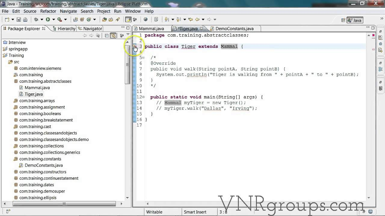 Java tutorial inheritance and abstract classes youtube java tutorial inheritance and abstract classes baditri Image collections