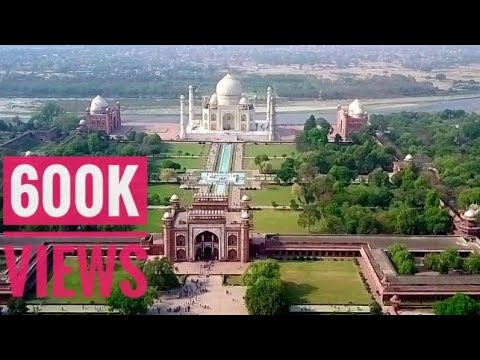 Taj Mahal from drone's eyes in 4k..!