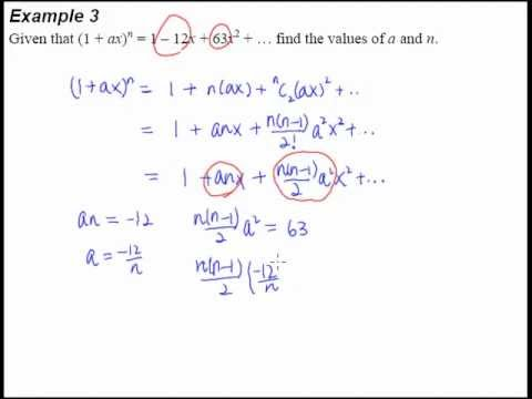 8 Binomial Theorem Example 3 A Binomial Question That Requires