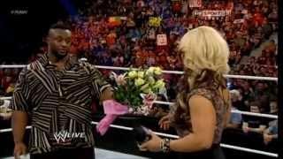 AJ and Big E traps Kaitlyn RAW 06/10/13