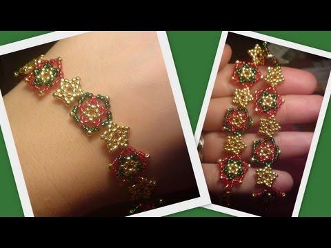 Beaded Star BraceletNecklace Christmas Set Beading