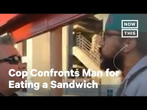 Police Try to Arrest Man for Eating Sandwich on BART Train Platform | NowThis