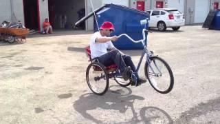 Wheelies on a 3 wheel bike.