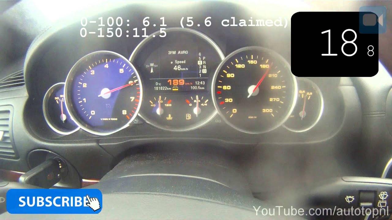 2004 Porsche Cayenne Turbo 0 202 Km H Great Acceleration Test Autobahn Youtube