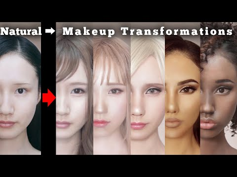 Makeup transformations into beautiful women in their twenties around the world | AmaterasuEVE
