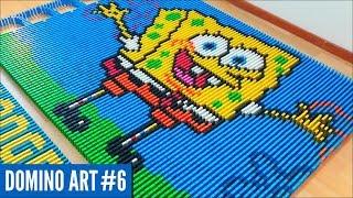 SPONGEBOB SQUAREPANTS MADE FROM 5,400 DOMINOES | Domino Art #6