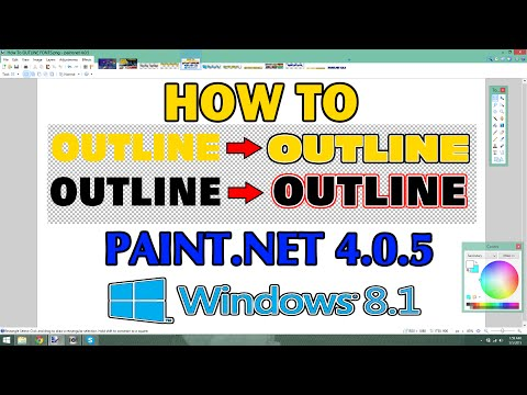 HOW TO OUTLINE FONT USING PAINT NET FREE