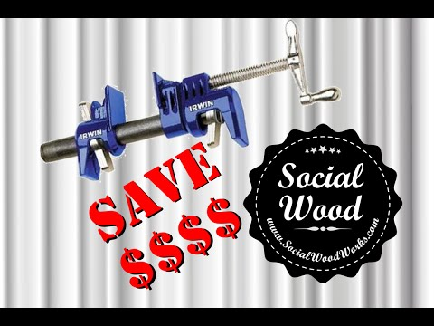 Woodworking tip # 1 - Save Money on Pipe Clamps