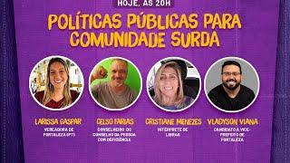 #Live_da_Larissa Políticas públicas para comunidade surda