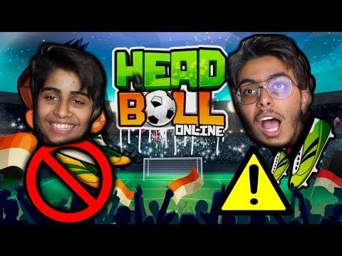 اللعبة هذي خلتني اجلد اخوي الصغير !! - Online Head Ball