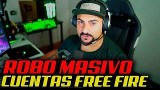 ROBO MASIVO DE CUENTAS DE FREE FIRE