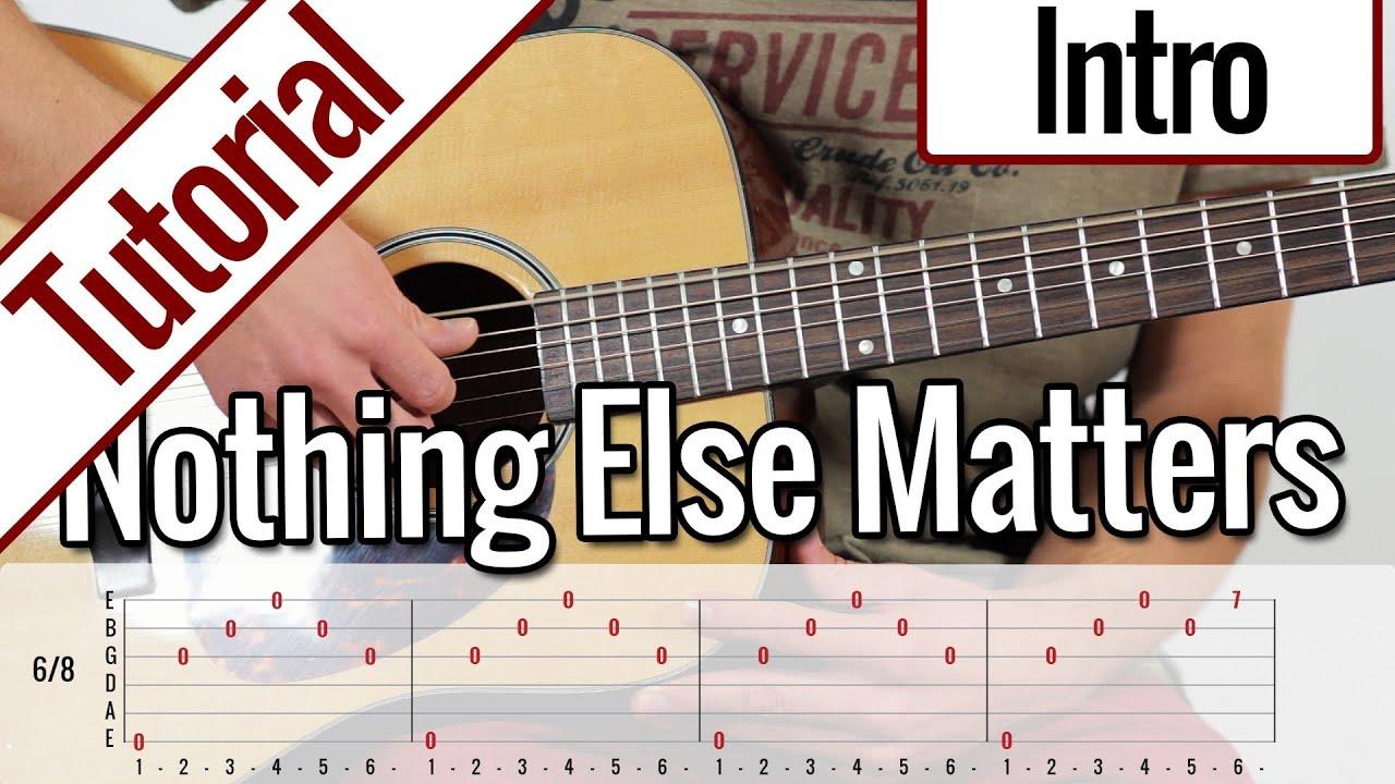 Metallica Nothing Else Matters Intro Gitarren Tutorial Deutsch Youtube