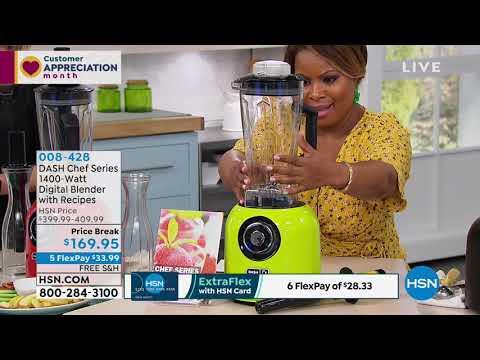 DASH Chef Series 1400Watt Digital Blender With Recipes