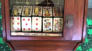 Early and rare 5 card poker trade stimulator 1800s