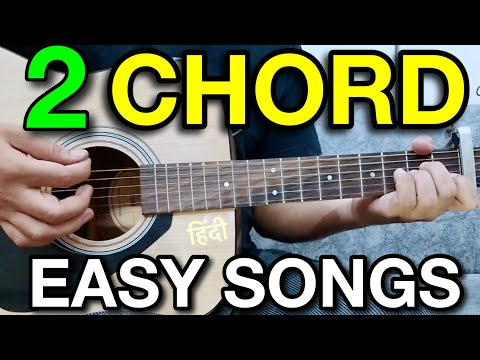 2 chords 7 CooL Guitar songs MASHUP Lesson  BollywoodHindi Songs Mashup  Two chords guitar songs