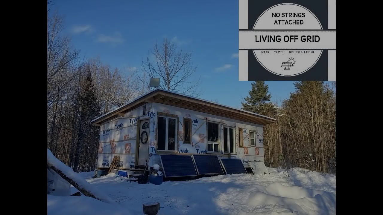 Amazing Off Grid Build!!! On A Budget!!!  No Strings Attached Living Off  Grid 12:06 HD