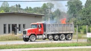 Dump Truck Fire