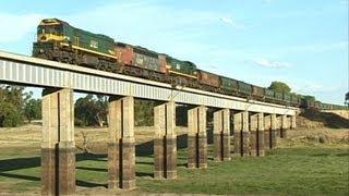 EMD Grain on the Castlemaine to Maryborough line - Rare footage: Australian Trains