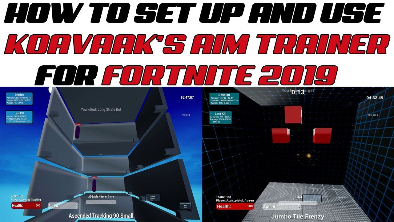 How To Set Up And Use Kovaak's Aim Trainer for FORTNITE (Tutorial 2019)