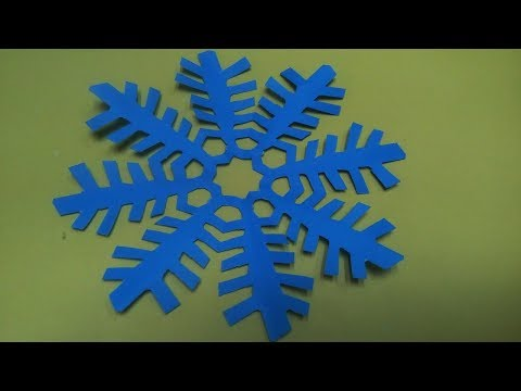 How to Make Snowflake with Paper | How To Make A Paper Snowflakes Step by Step Tutorial