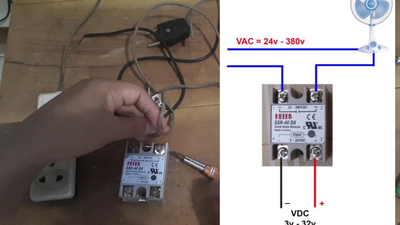 [SCHEMATICS_4HG]  cara pasang relay ssr modul saklar otomats - YouTube | Fotek Ssr 40 Wiring Diagram |  | YouTube