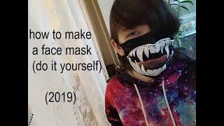 Маска из ткани на лицо (своими руками 2019) how to make a face mask (do it yourself 2019)
