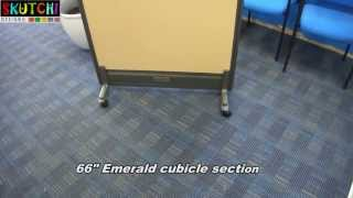 Office Cubicle Rolling Caster Leg Installation For Emerald Series By Skutchi Designs, Inc