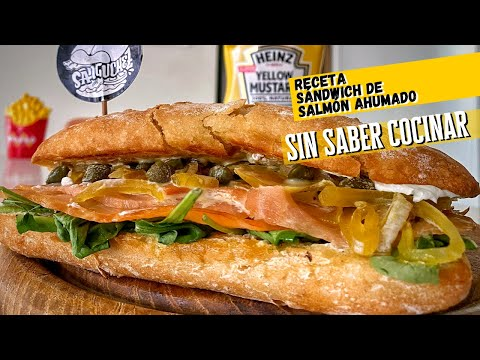 Sándwich de salmón ahumado - SIN SABER COCINAR