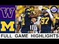 Washington vs Michigan Highlights   College Football Week 2   2021 College Football Highlights
