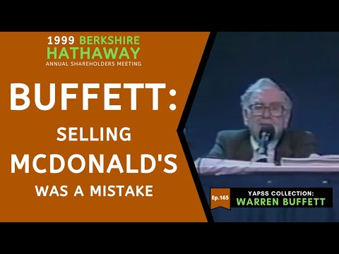 【C:W.B Ep.165】Warren Buffett: Billion-dollars Mistake Of Selling McDonald's | BerkshireHathaway 1999
