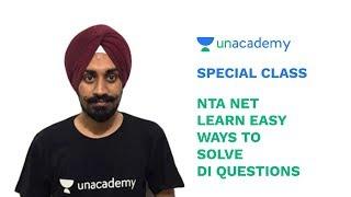 Special Class - NTA NET 2018 - Learn Easy Ways to Solve DI Questions - Talvir Singh