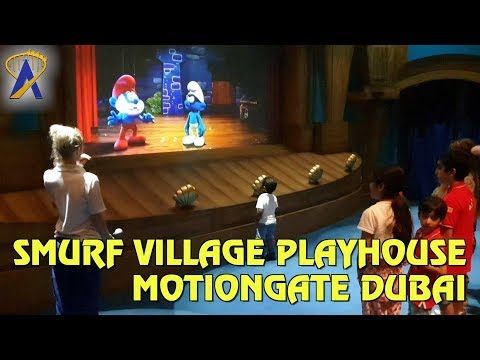 Smurf Village Playhouse Interactive Show At Motiongate Dubai