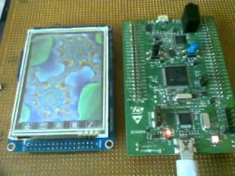 STM32CUBE STM32F4 + ST7735 TFT SPI LCD Module Test 3 by