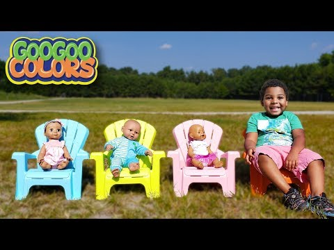KIDS PLAY HIDE N SEEK AT PLAYGROUND! Learn Colors with Goo Goo Gaga