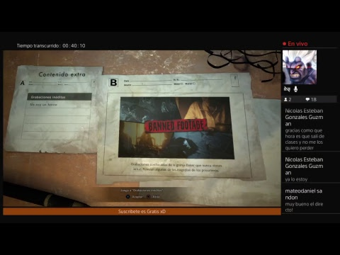Resident Evil 7: Not a Hero DLC (Parte2)  (Chile) - Live